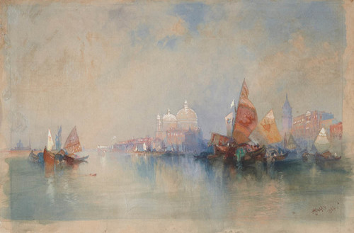 Art Prints of Venice Lagoon Looking Toward Santa Maria Della Salute by Thomas Moran