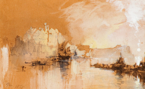 Art Prints of An Island in the Adriatic by Thomas Moran