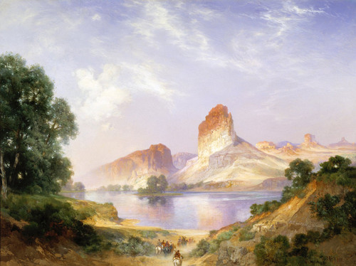 Art Prints of An Indian Paradise, Green River, Wyoming by Thomas Moran