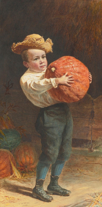 Art Prints of For Thanksgiving Day by Thomas Waterman Wood
