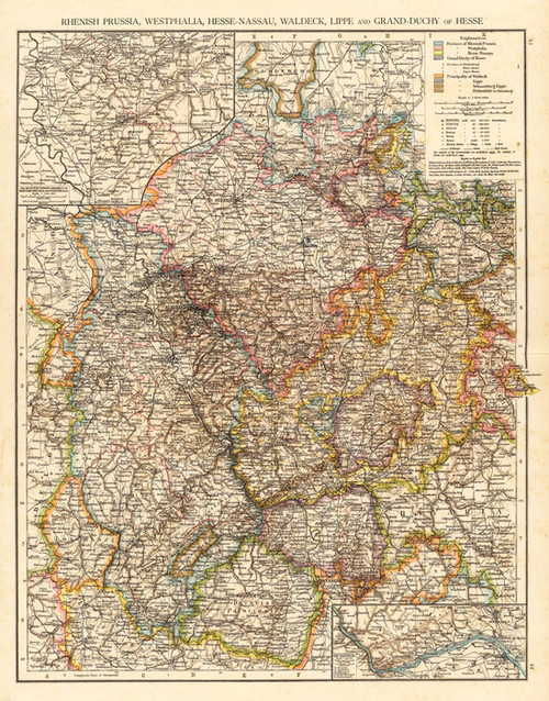 Art Prints of Rhenish Prussia (1010027) by Times London and Richard Andree