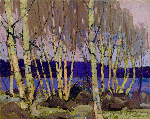 Art Prints of Evening Canoe Lake, Winter by Tom Thomson