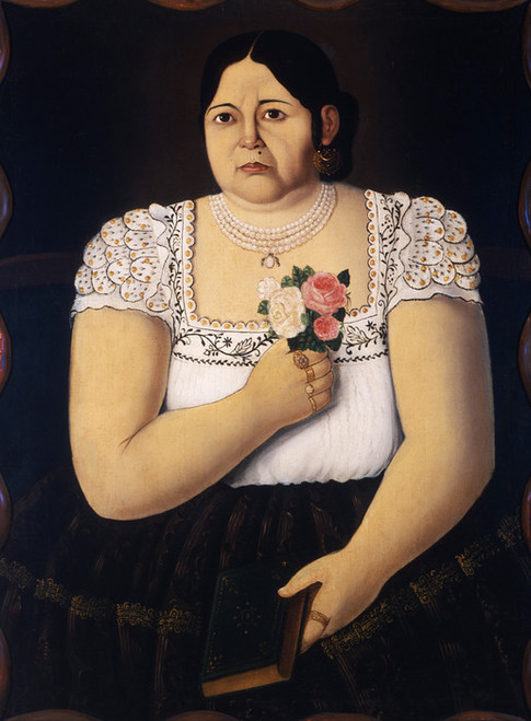 Art Prints of Portrait of a Native Puebla Woman by an Unknown Artist