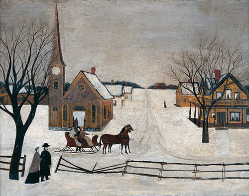 Art Prints of Winter Sunday in Norway, Maine by an Unknown Artist