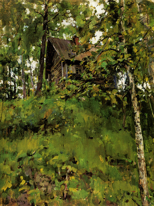 Art Prints of Old Bath House in Domotkanovo by Valentin Serov
