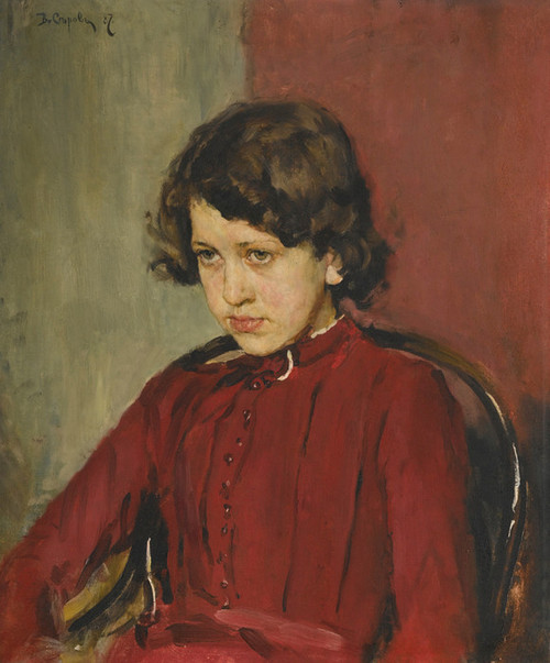Art Prints of Portrait of Praskovia Anatolievna Mamontova by Valentin Serov
