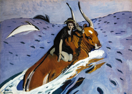 Art Prints of The Rape of Europa by Valentin Serov