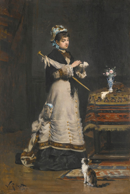Art Prints of After the Visit by Victor Gabriel Gilbert