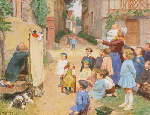 Art Prints of The Puppets by Victor Gabriel Gilbert