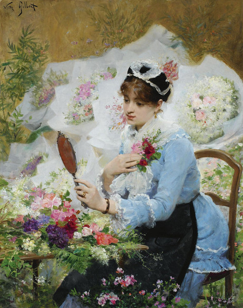 Art Prints of The Flower Seller II by Victor Gabriel Gilbert