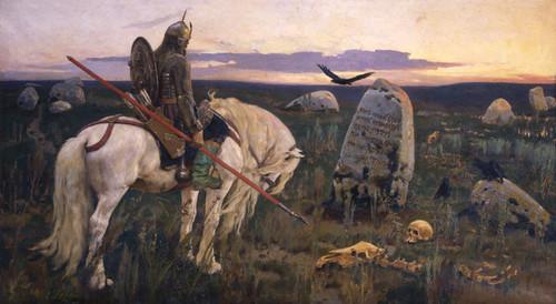 Art Prints of Knight at the Crossroads by Viktor Vasnetsov