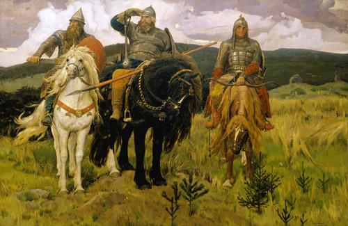 Art Prints of Bogatyrs, 1881 by Viktor Vasnetsov