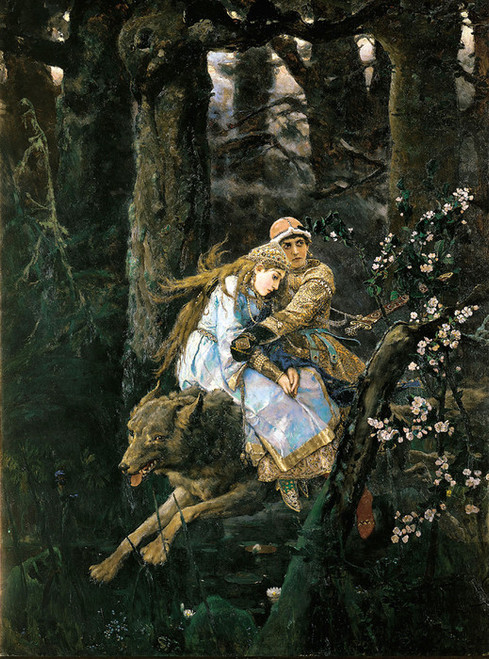 Art Prints of Ivan Zarevitch on the Grey Wolf by Viktor Vasnetsov