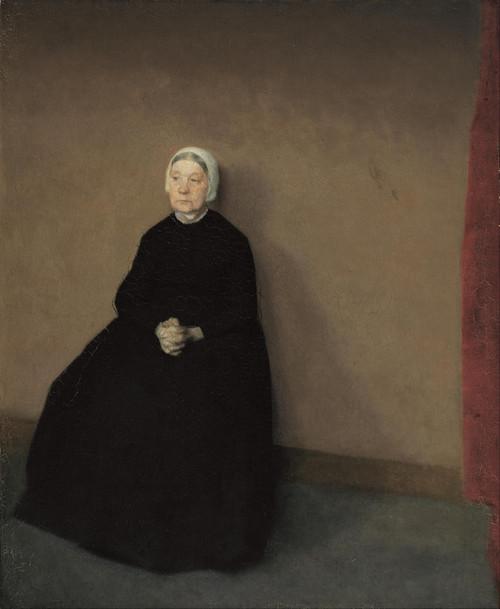 Art Prints of An Old Woman by Vilhelm Hammershoi