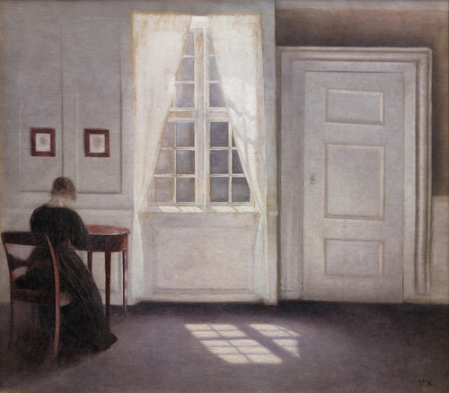 Art Prints of A Room in the Artist's Home by Vilhelm Hammershoi