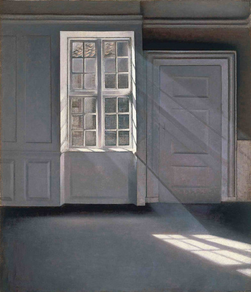 Art Prints of Dust Dancing in the Sunbeams by Vilhelm Hammershoi