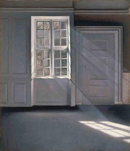 Art Prints of Dust Dancing in the Sunbeams by Vilhelm Hammershoi