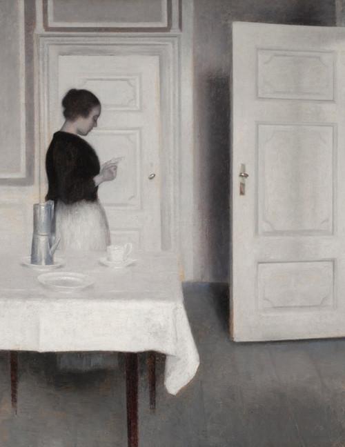 Art Prints of Ida Reading a Letter by Vilhelm Hammershoi
