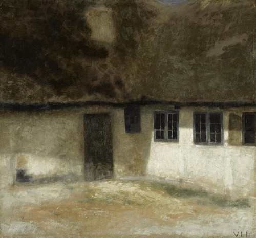Art Prints of Corner of a Farm by Vilhelm Hammershoi