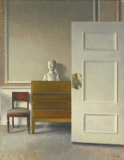 Art Prints of Interior with a Bust by Vilhelm Hammershoi
