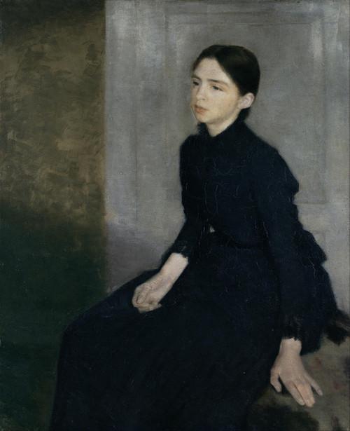 Art Prints of Portrait of a Young Woman, Anna Hammershoi by Vilhelm Hammershoi