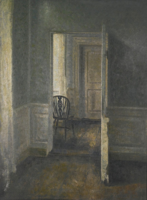 Art Prints of Interior with Windsor Chair, 1913 by Vilhelm Hammershoi