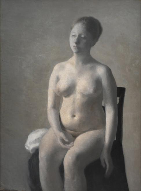 Art Prints of Seated Female Nude by Vilhelm Hammershoi
