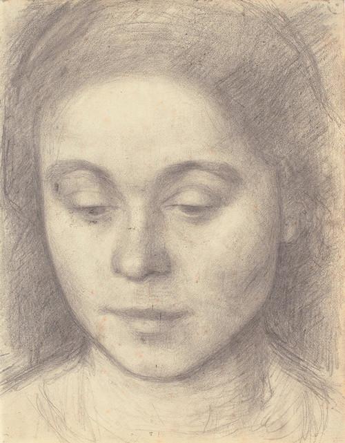 Art Prints of Portrait of Ida, the Artist's Wife by Vilhelm Hammershoi