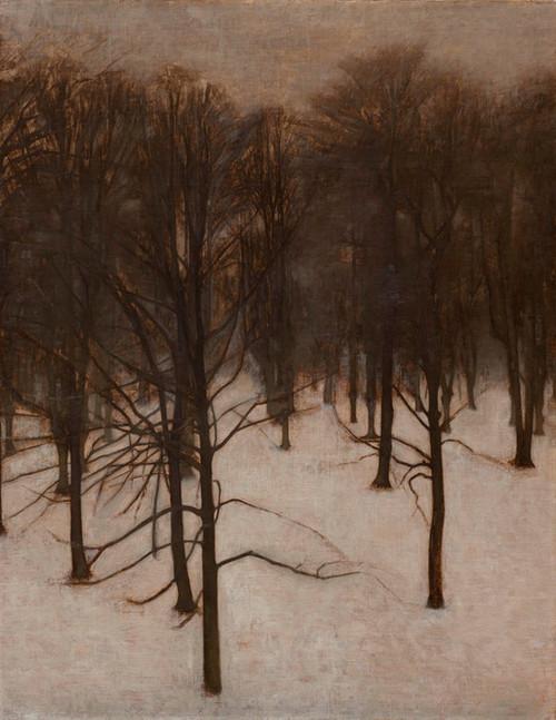 Art Prints of Park in Winter by Vilhelm Hammershoi