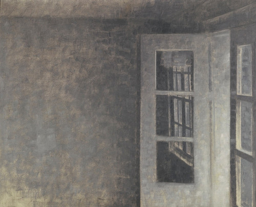 Art Prints of The Balcony Room at Spurveskjul by Vilhelm Hammershoi