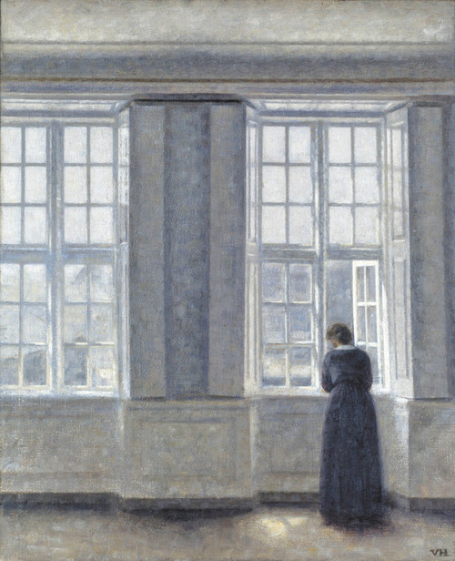 Art Prints of The Tall Windows by Vilhelm Hammershoi