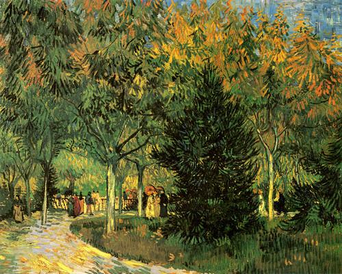 Art Prints of A Lane in the Public Garden by Vincent Van Gogh