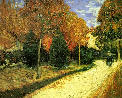 Art Prints of A Lane in the Public Garden II by Vincent van Gogh
