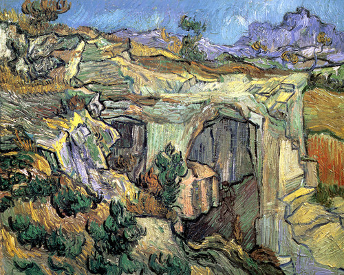 Art Prints of Entrance to a Quarry, 1889 by Vincent Van Gogh
