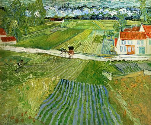 Art Prints of Landscape at Auvers after the Rain by Vincent Van Gogh