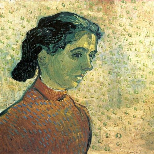 Art Prints of Head of a Girl, 1890 by Vincent Van Gogh
