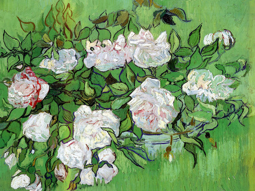 Art Prints of Pink Roses by Vincent Van Gogh