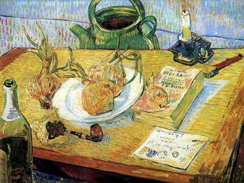 Art Prints of Plate with Onions and Other Objects by Vincent Van Gogh