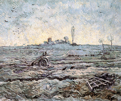 Art Prints of Plough and Harrow, 1890 by Vincent Van Gogh
