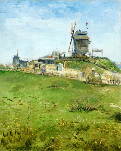 Art Prints of The Moulin du Blute Fin Montmartre by Vincent Van Gogh