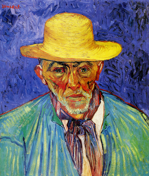 Art Prints of The Old Peasant Patience Escalier by Vincent Van Gogh