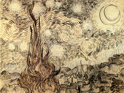 Art Prints of The Starry Night by Vincent Van Gogh