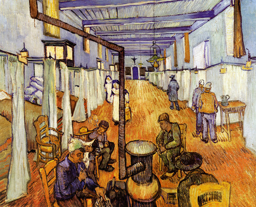 Art Prints of The Ward in the Hospital at Arles by Vincent Van Gogh