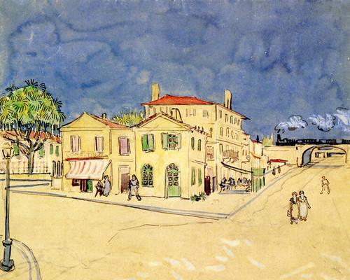 Art Prints of Vincent's House, 1888 by Vincent Van Gogh