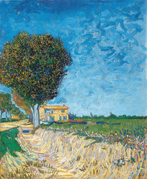 Art Prints of A Lane near Arles or Side of a Country Lane by Vincent Van Gogh