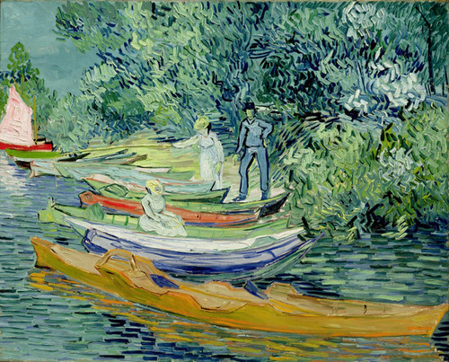 Art Prints of Bank of the Oise at Auvers by Vincent Van Gogh