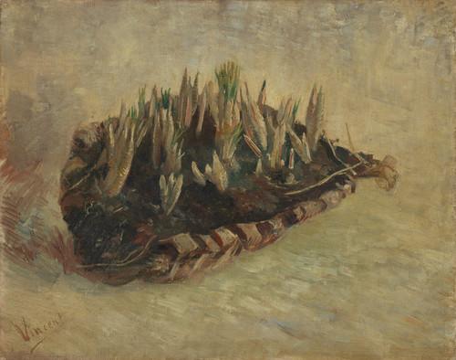 Art Prints of Basket of Crocus Bulbs by Vincent Van Gogh