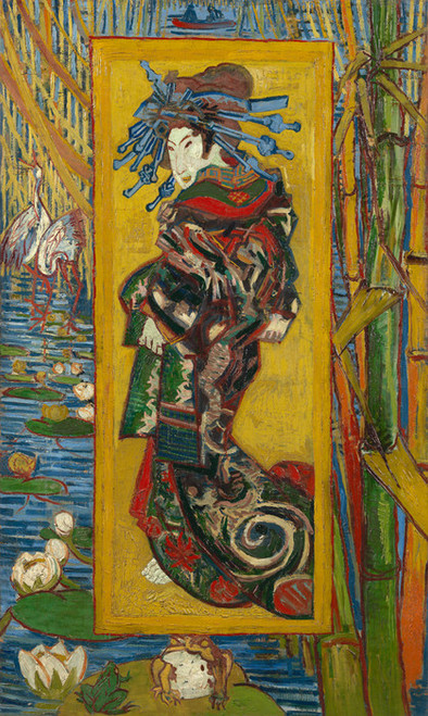 Art Prints of Courtesan (after Eisen) by Vincent Van Gogh