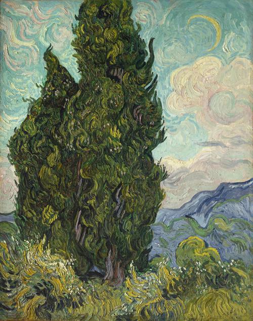 Art Prints of Cypresses, 1889 by Vincent Van Gogh