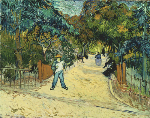 Art Prints of Entrance to the Public Gardens in Arles by Vincent Van Gogh